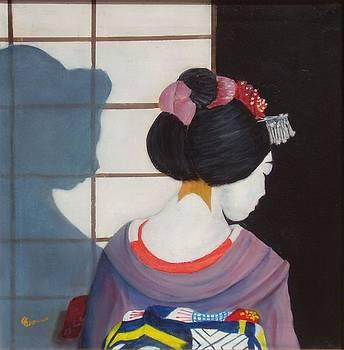 Japanese Geisha portrait - Back to Okiya by Gianluca Cremonesi