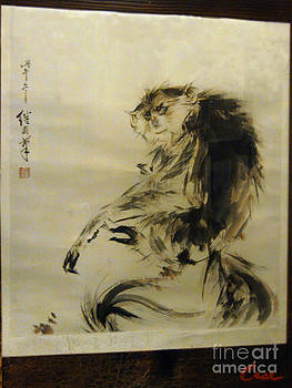 Feile Case - Japanese Monkey Ink Painting Calligraphy