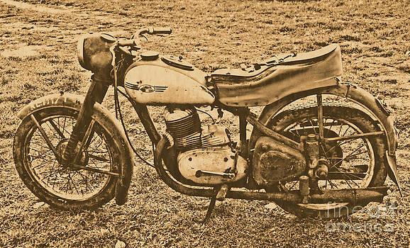 Jawa motorcycle by Joanna Cieslinska