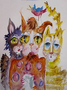 Jazz Cats No. 2 by Delilah  Smith