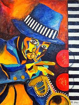 Jazz Rhythms II by Angela Green