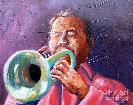 Jazz Trumpet Player by Todd Bandy