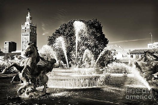 Andee Design - JC Nichols Memorial Fountain BW 1