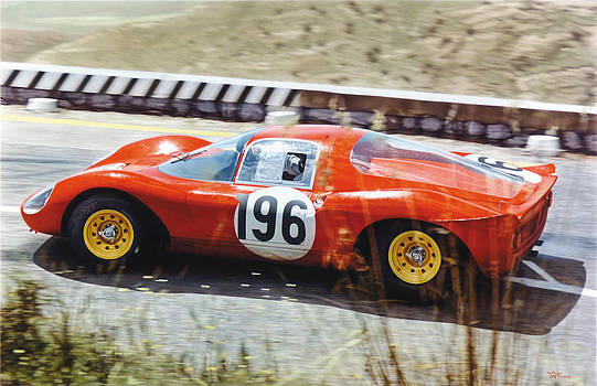 Jean Guichet - Ferrari Dino 206 - Targa Florio 1966 by Alberto Ponno