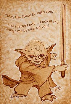 Jedi Yoda Quotes original beer painting by Georgeta Blanaru