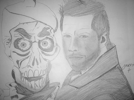 Jeff Dunham and achmed sketch by John Morris