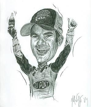 Michael Morgan - Jeff Gordon Caricature