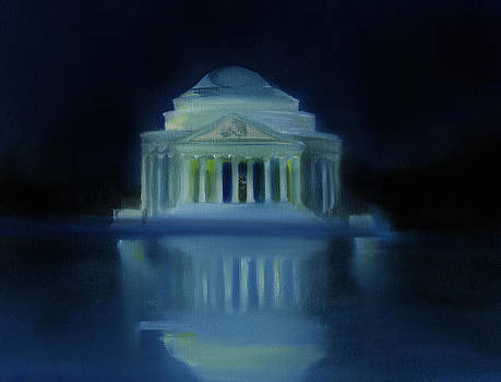 Jefferson Memorial At Night by Neal Cormier