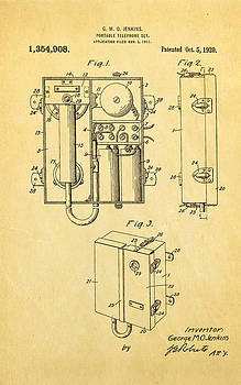 Ian Monk - Jenkins Portable Telephone Patent Art 1920