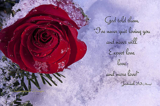 Jeremiah 31 3 by Inspirational  Designs