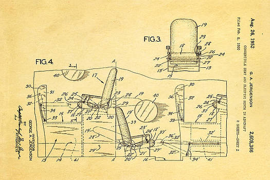 Ian Monk - Jergenson Aircraft Sleeper Cabin Patent Art 2 1952