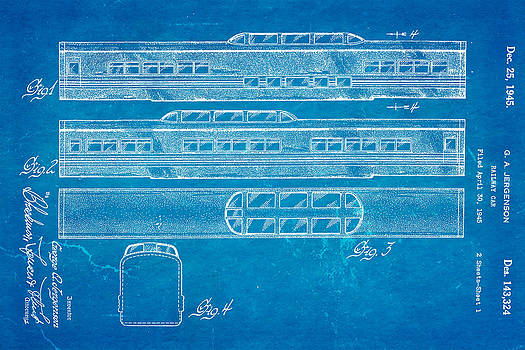 Ian Monk - Jergenson Railway Car Patent Art 1945 Blueprint