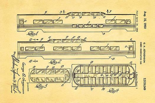 Ian Monk - Jergenson Railway Car Patent Art 1950