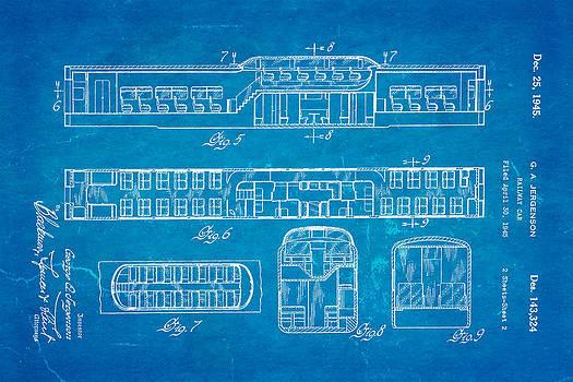 Ian Monk - Jergenson Railway Car Patent Art 2 1945 Blueprint