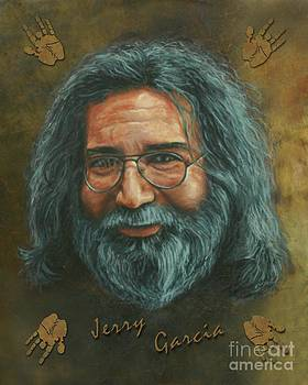 Jerry Garcia painting by Stu Braks