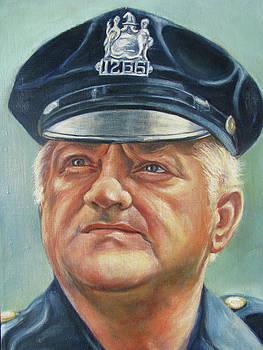 Jersey City Policeman by Melinda Saminski