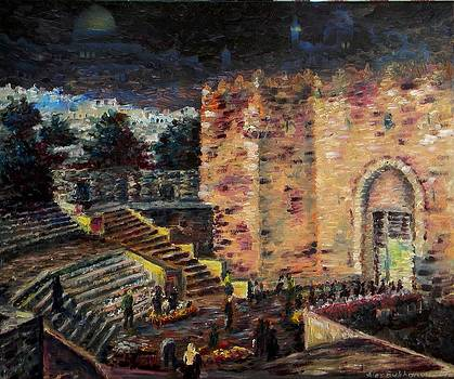 Jerusalem Night by East Gate by Alexander Bukhanov