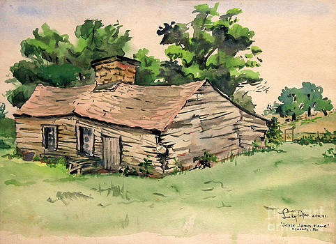 Art By Tolpo Collection - Jesse James Home - Clay County Missouri  1941