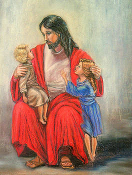 Jesus and the children by Terry Sita