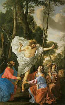 Laurent De La Hyre - Jesus Appearing to the Three Marys