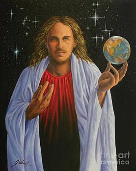 Jesus Christ of the cosmos by Ivonne Galanes Svard