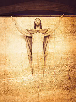 Stuart Brown - Jesus Wall Statue
