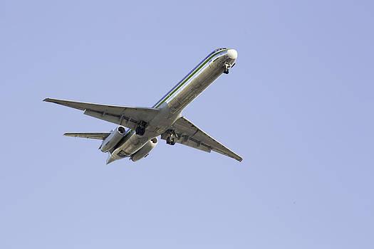 Jet airplane taking off by Jodi Jacobson