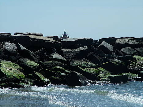 Jetty and Lighthouse by Geoffrey McLean