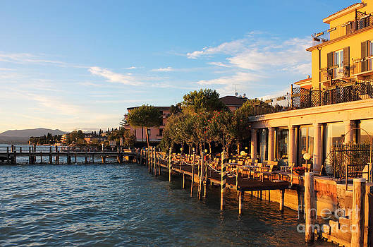 Jetty Port and Quay in Sirmione by Kiril Stanchev