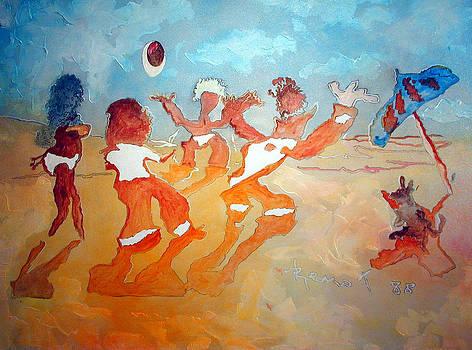 Jeu de plage - not for sale by Bernard RENOT