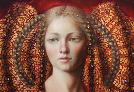 Jewel  closeup by Loretta Fasan