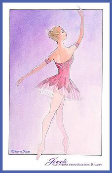 Jewels Tutu Pink by Steven Stines