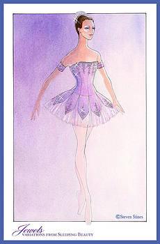 Jewels Tutu Purple by Steven Stines