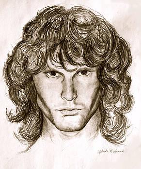 Jim Morrison by Melinda Saminski