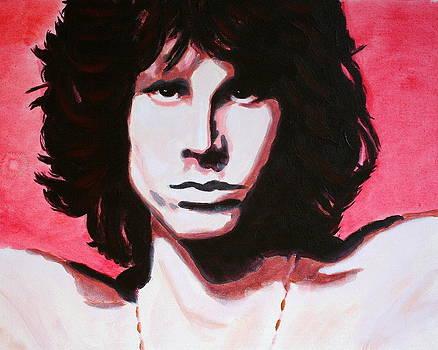 Jim Morrison of The Doors by Bob Baker