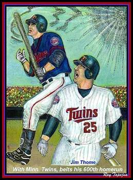 Jim Thome hits 600th with Twins by Ray Tapajna