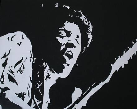 Jimi Hendrix 1 by Ray Johnson