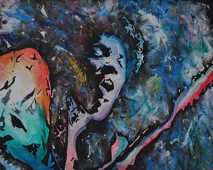 Jimi Hendrix 2 by Ray Johnson
