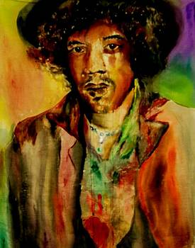 Jimi Hendrix by Alicia Post
