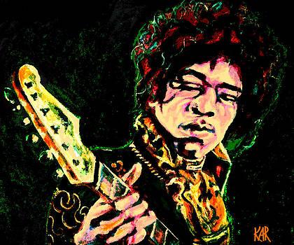 Jimi Hendrix Digital Piece by Art by Kar