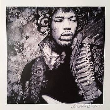 Jimi Hendrix.  I Have A Stack Of These by Ocean Clark