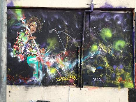 Jimi Hendrix mural by Erik Franco
