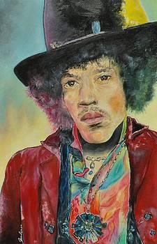Jimi Hendrix by Paula Sharlea