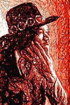 Jimi Hendrix by Rudolf Sechovec