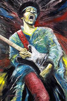Jimi Hendrix Spanish Castle Magic by Mike Underwood