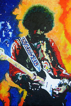 Jimi Hendrix Voodoo Child by Ronald Young