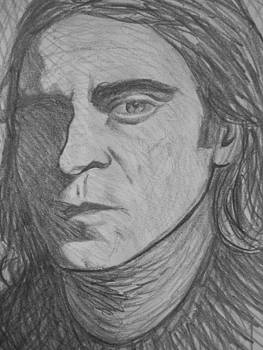 Joaquin Phoenix Drawing by Jeremiah Cook
