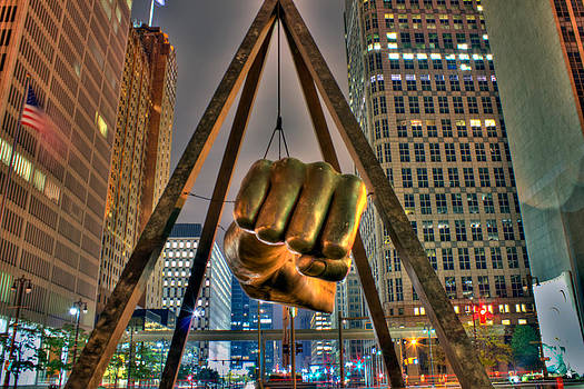 Joe Louis Fist Detroit MI by A And N Art