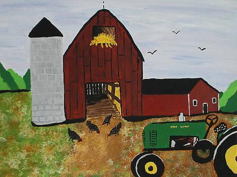 John Deer Tractor by Lois D  Psutka