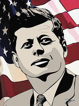 John F. Kennedy 1st Irish Catholic President  by Dancin Artworks